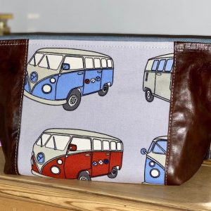 VW T29 Volkswagen transporter Camper Vans Ladies Travel Toiletry Bag Wash Pouches Leather Campers Gift Accessories highline valuables